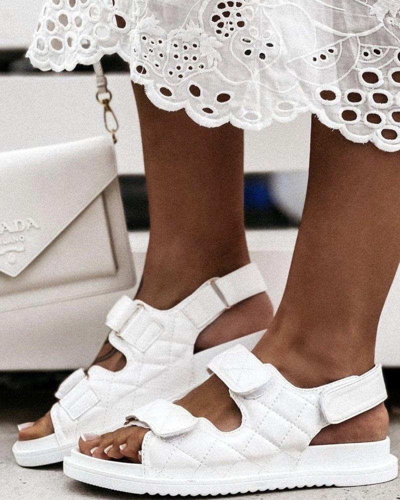 Fashion-Click Sandalen Coco White