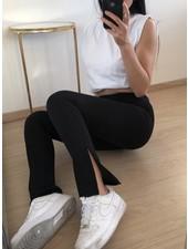 Fashion-Click Split Legging  Classic Zwart