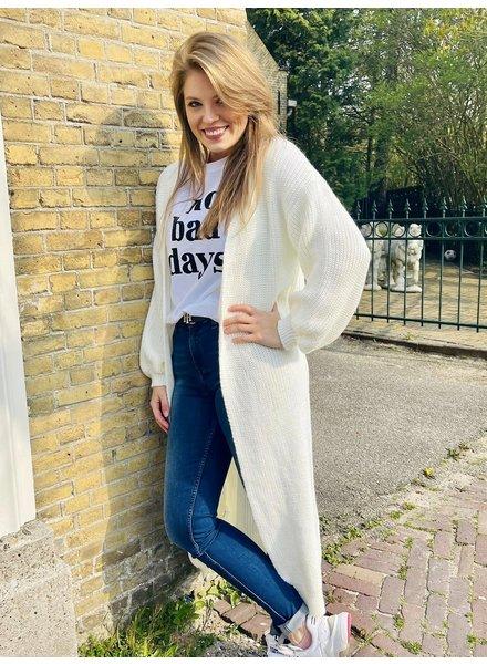 Fashion-Click Lang Vest Wit