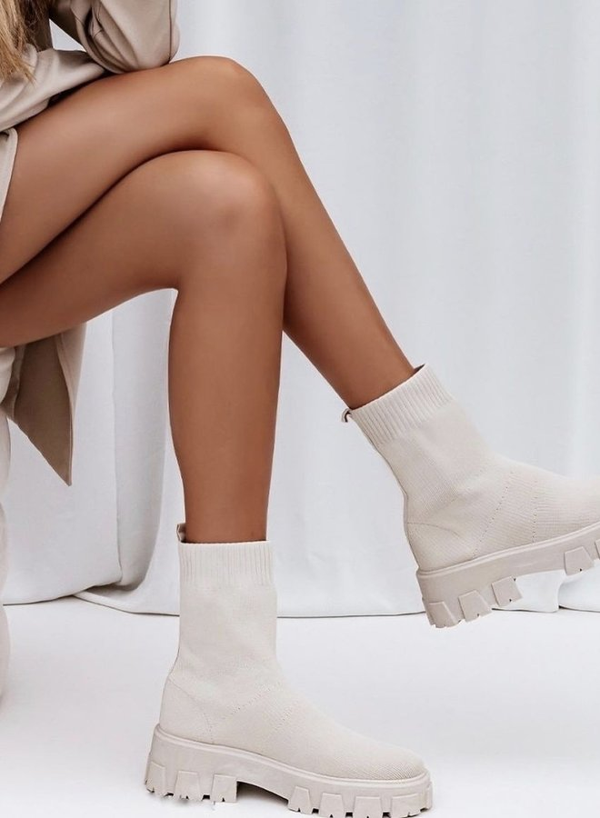 Sock Boots Wit