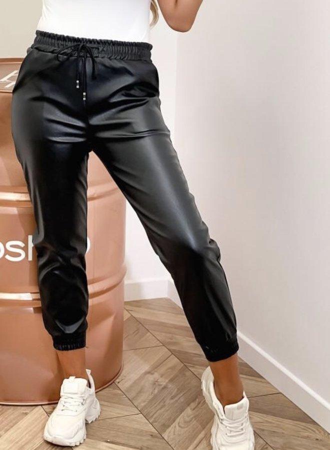 Jogger Leatherlook Zwart