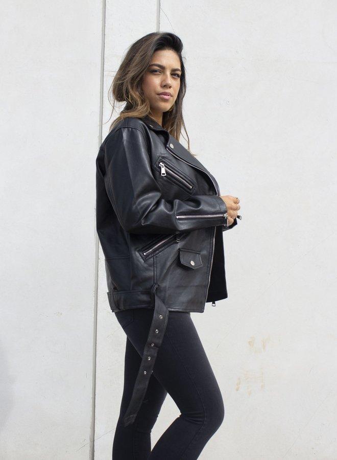 Jasje Leather Jacket Black