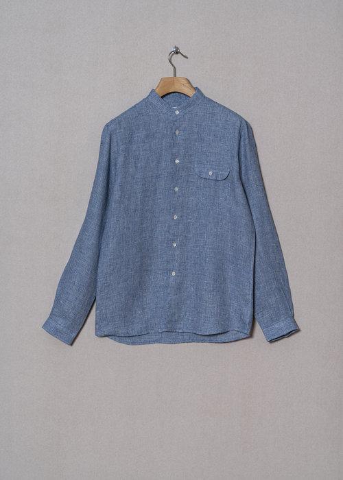 La Paz VIEIRA BLUE MICRO linen shirt