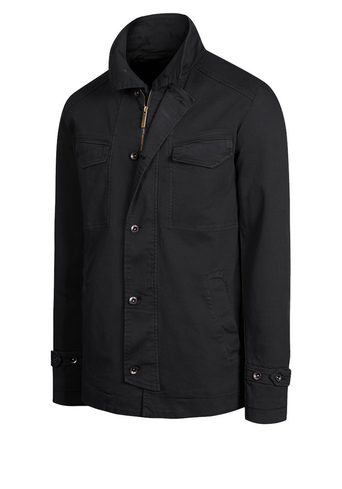 BRONCO 055 lined denim field jacket