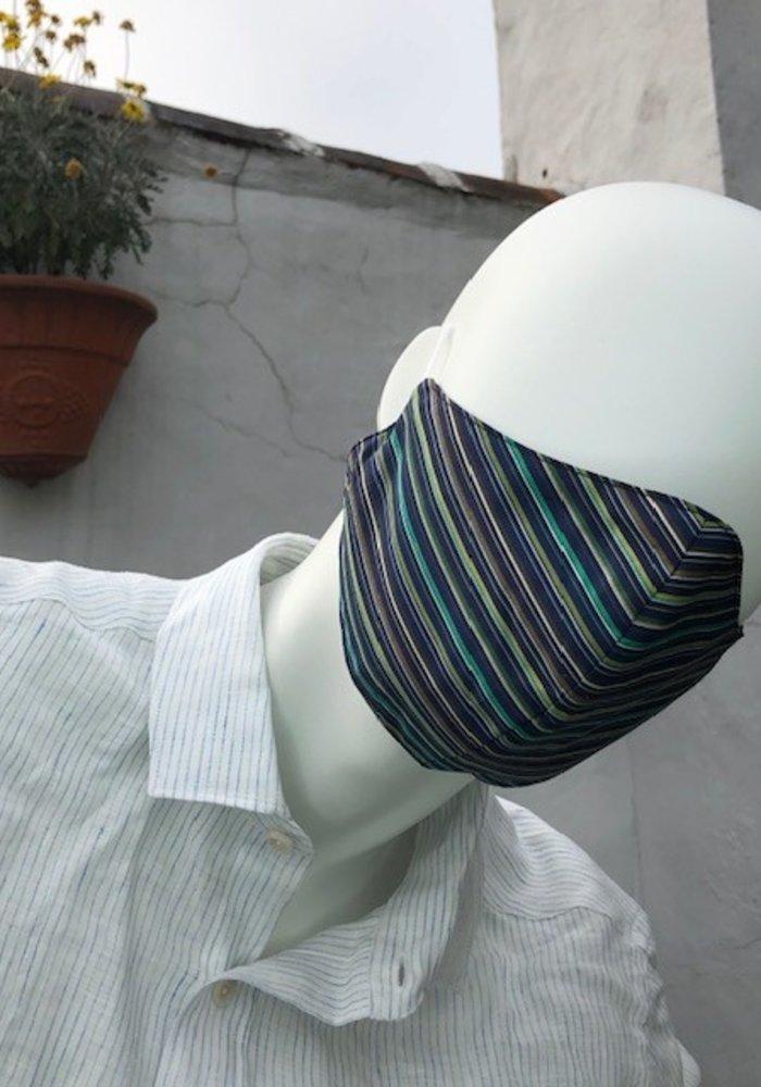 Mondmasker optie filter Blue/Green lines