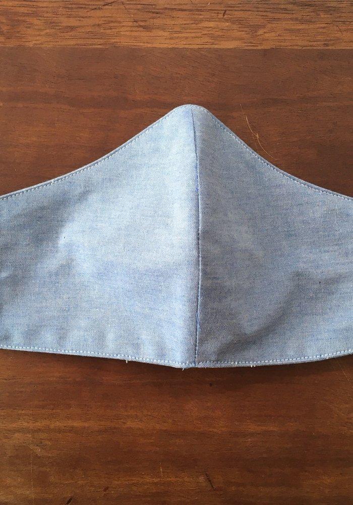 Mondmasker met optie filter Jeans Lichtblauw