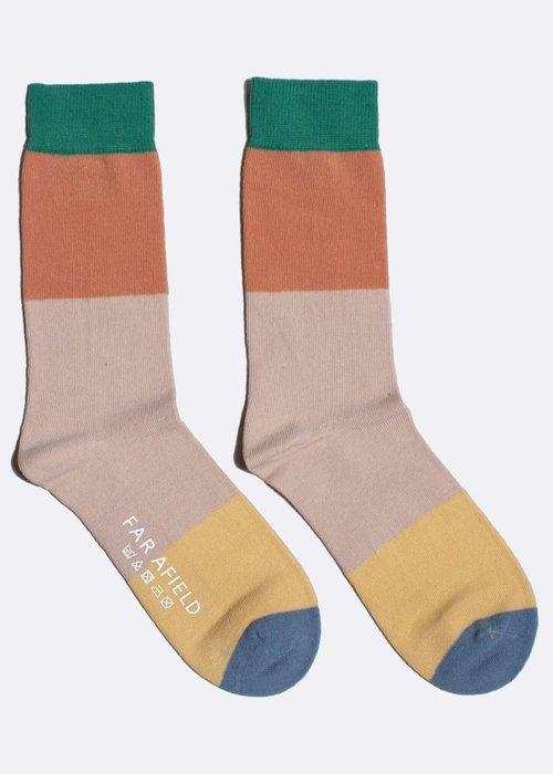 Far Afield Block socks multi