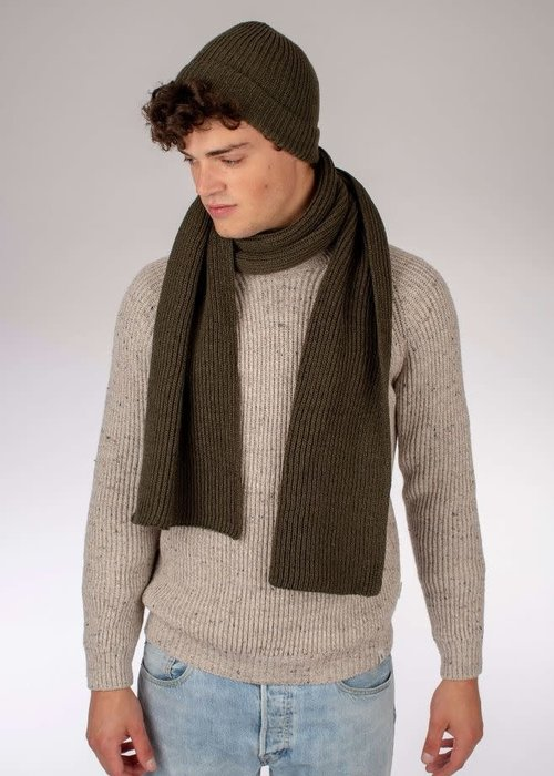 Peregrine Ribbed scarf PORTER