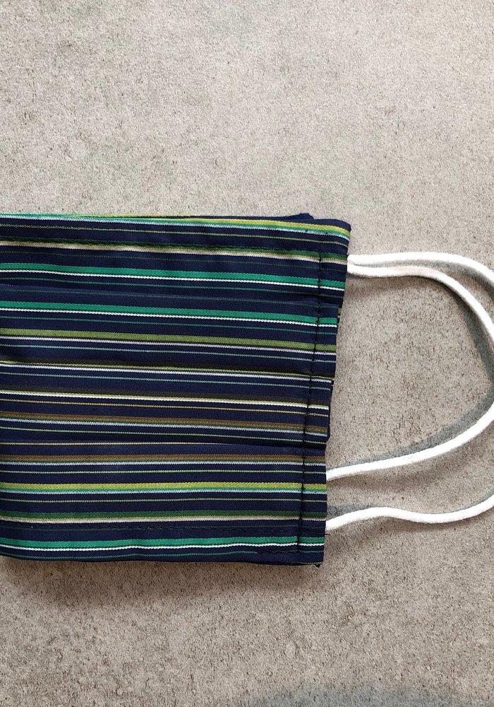 Mondmasker Enveloppe model/ filter Green Stripes SC0402