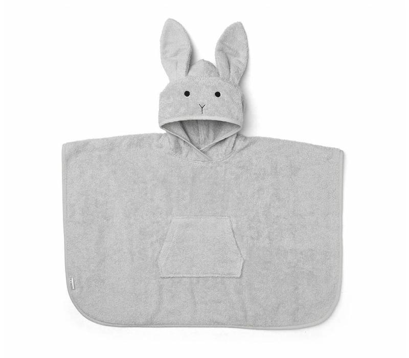 Badstof Poncho Konijn Dumbo Grijs