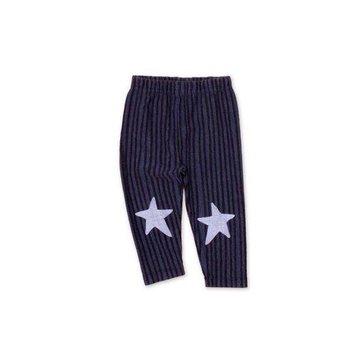 Legging Star Blauw met zwarte streep