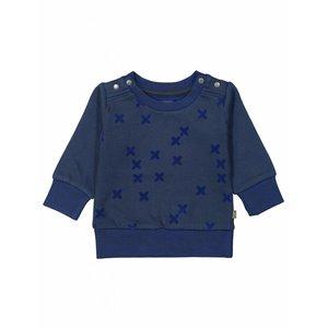 Kidscase Donkerblauwe trui (kruisjes)