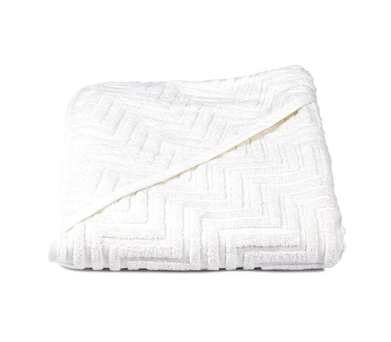 Badcape XL ZIGZAG White