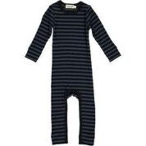 Bodysuit Modal Stripes Black/Blue