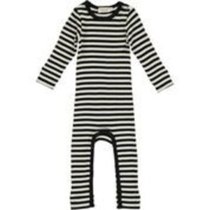 Onesie Modal stripes Black/ Off White