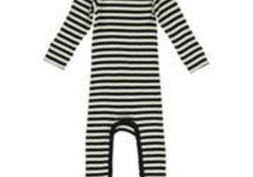 MarMar  Onesie Modal stripes Black/ Off White