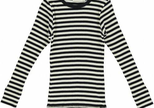 MarMar  Modal Stripes T-shirt (black/off white)