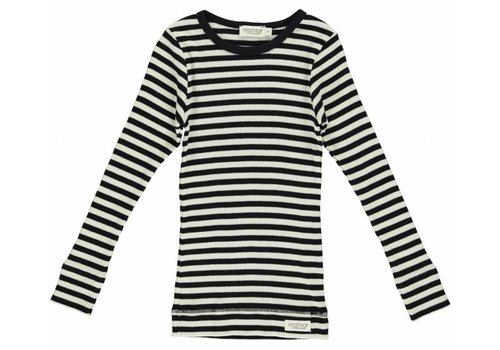 MarMar  Modal Stripes T-shirt (black/off white)