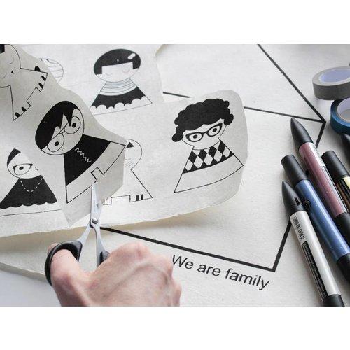 Sagström & Co DIY Familie Huis (poster)