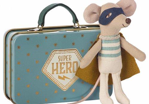Maileg  Superhero Mouse in Suitcase