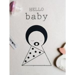 Sagström & Co A4 Poster Hello Baby