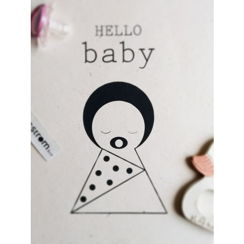 Sagström & Co Sagstrom and Co A4 Poster Hello Baby