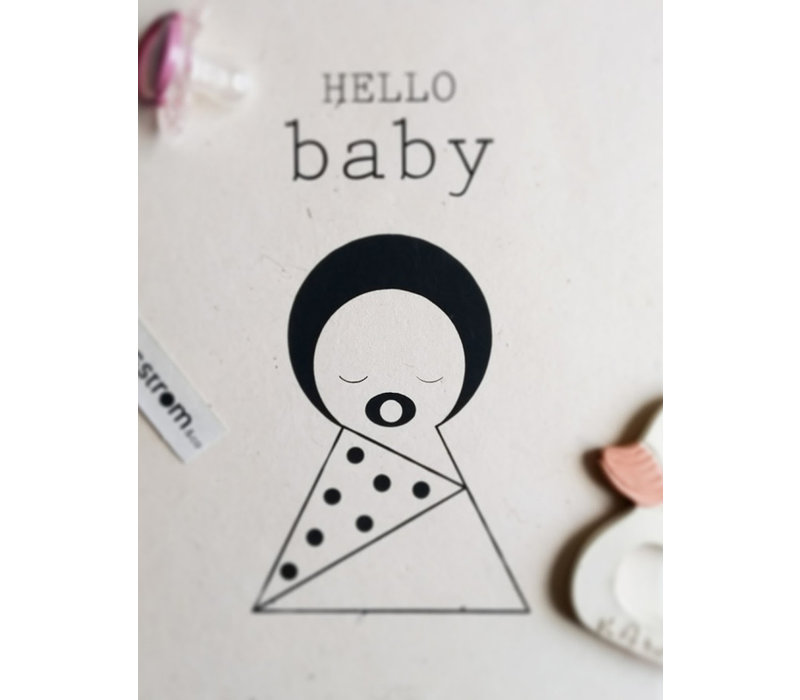 Sagstrom and Co A4 Poster Hello Baby