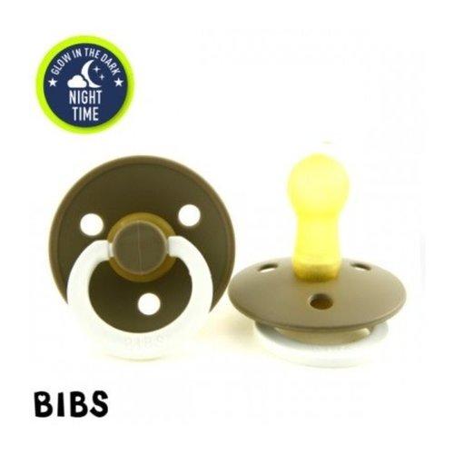 BIBS Bibs Speen (kersvorm) 3-18mnd Glow in the Dark Oak