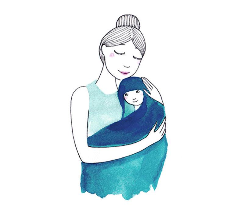 Babytowel: baby handdoek pastelgroen
