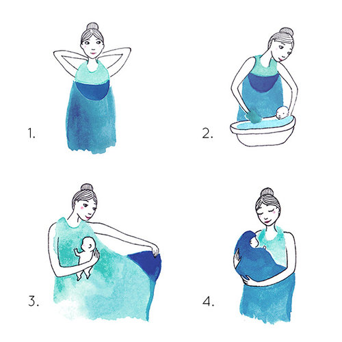 Palais de L'eau Babytowel: baby handdoek pastelgroen
