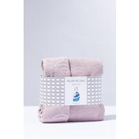 Babytowel: baby handdoek pastel roze