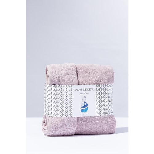 Palais de L'eau Babytowel: baby handdoek pastel roze