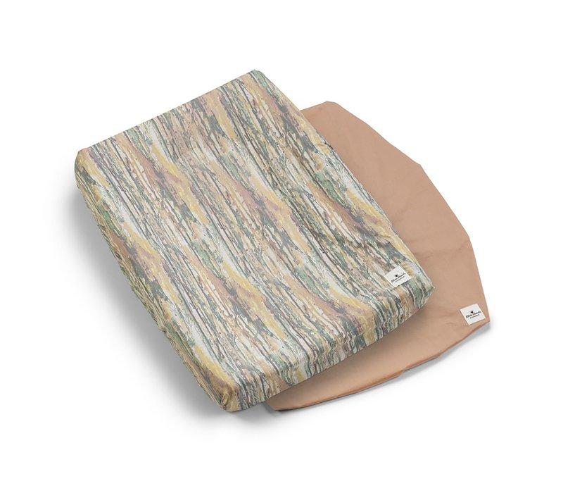 Aankleedkussenhoes/ Changing Mat Unicorn Rain en Roze (2 Stuks)