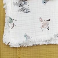 Dekentje (wieg/ledikant) Zacht Katoen Feathered Friends (75x100cm)