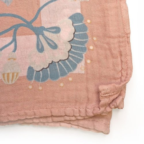 Elodie Details Bamboo Swaddle Faded Rose Bells 80 x 80cm