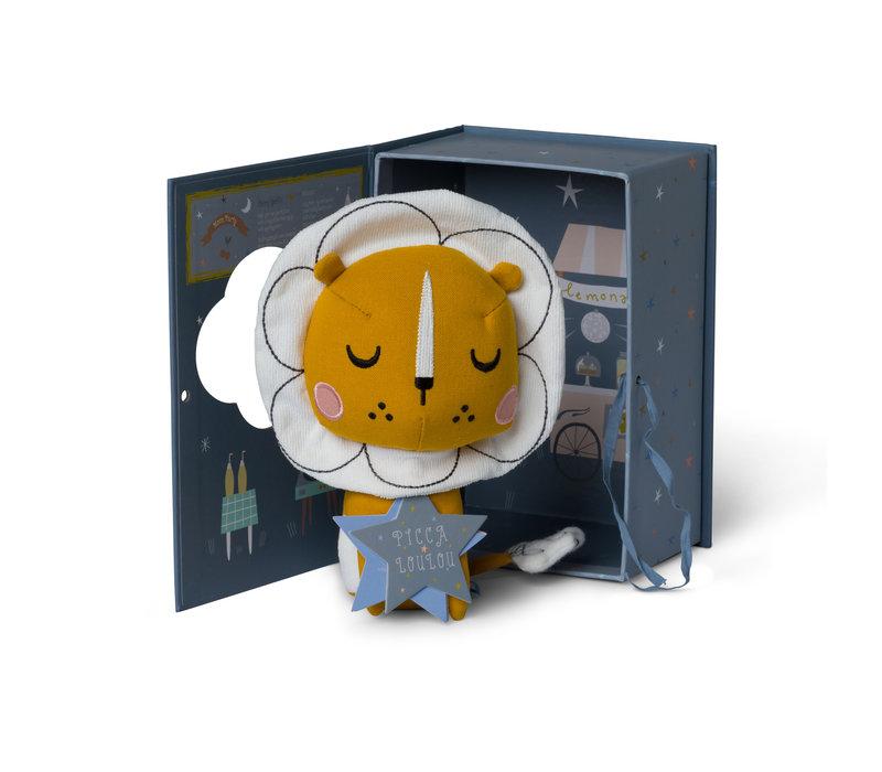 Lion okergeel in gift box