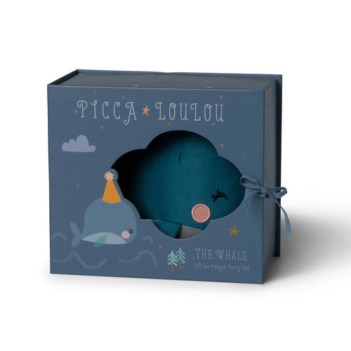 Picca LouLou Walvis petrol blauw in giftbox