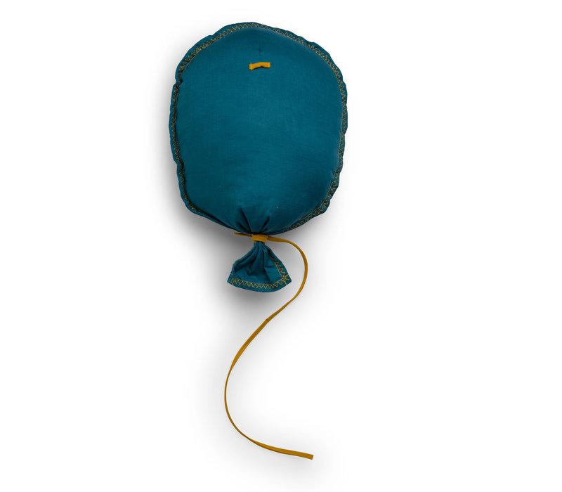 MuurDecoratie Ballon Petrol/Blauw