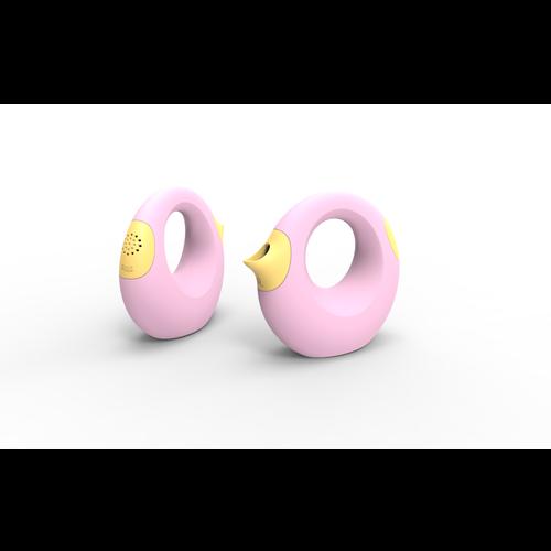 Quut Strand Gieter (0,5L) zacht roze met geel