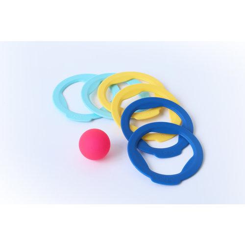 Quut Strandspeelgoed ringen spel (6ringen + 1 bal)/ Jeux de bouls