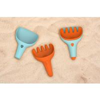 Strandspeelgoed Harkje en schepje blauw en oranje
