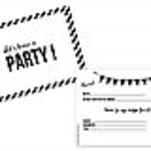 SuzyB Uitnodiging Let's have a party 10 stuks