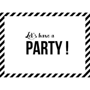 SuzyB Uitnodiging Let's have a party
