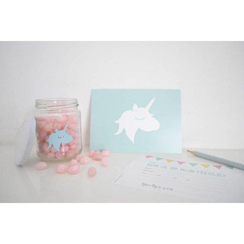 SuzyB Uitnodiging kinderverjaardag unicorn 10 stuks