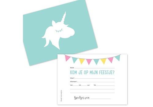 SuzyB Uitnodiging Unicorn
