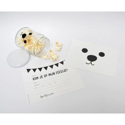 SuzyB Uitnodiging Kinderverjaardag bear 10 stuks