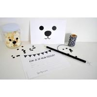 SuzyB Uitnodiging Kinderverjaardag bear