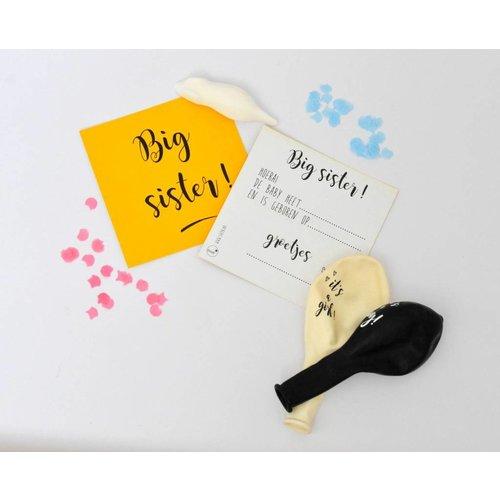 SuzyB Traktatiekaartjes big sister Yellow 10 stuks