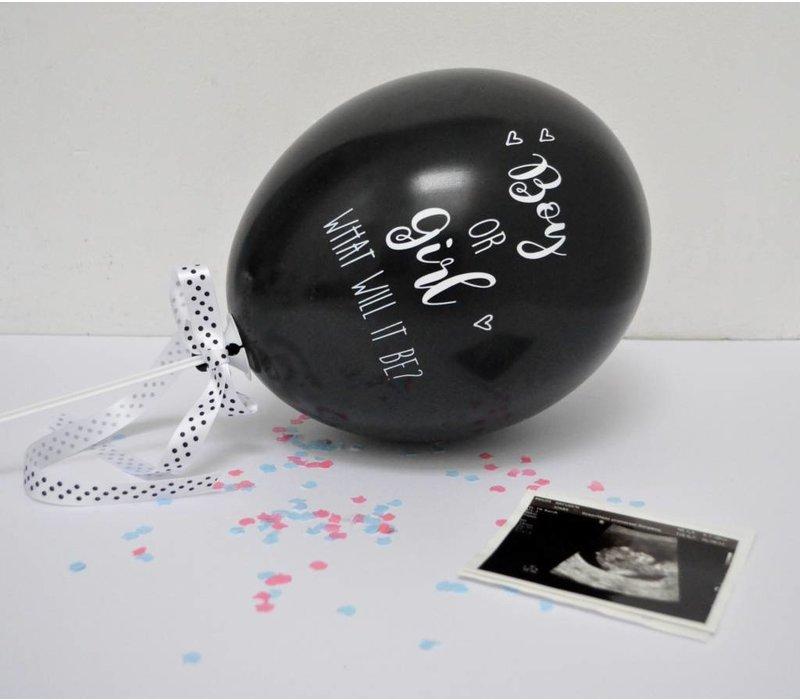 SuzyB gender reveal ballon. IT'S A BOY