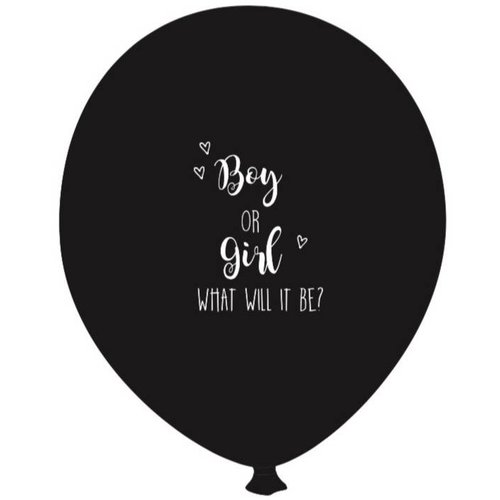 SuzyB Gender reveal ballon IT'S A GIRL 2 stuks gender reveal en 4 stuks it's a girl